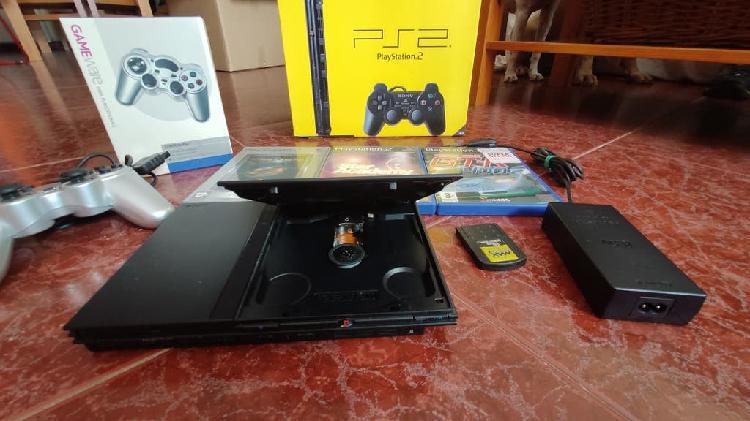 Play station ps2 slim + juegos