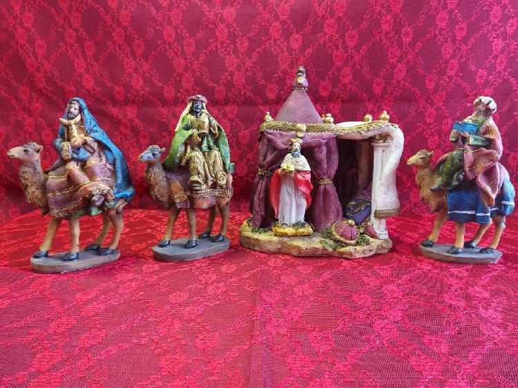 Reyes magos con tienda