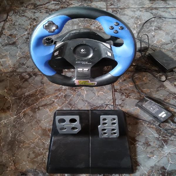 Volante y pedales ps2 juegos electronica
