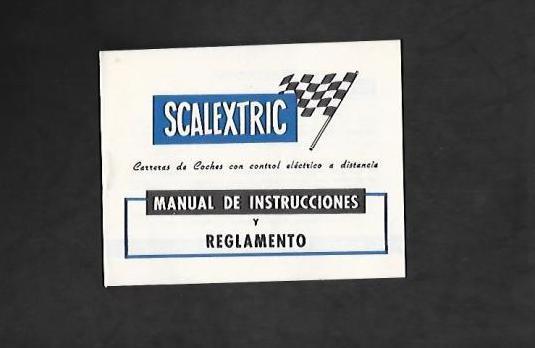 1 scalextric manual de instrucciones y reglamento