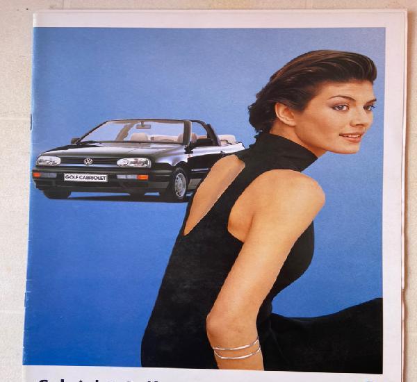 1997 catálogo volkswagen cabriolet golf