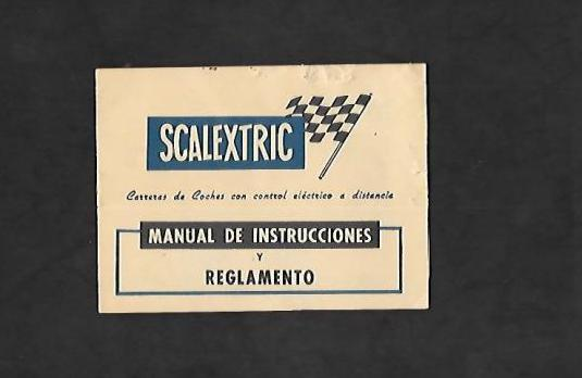 2 scalextric manual de instrucciones y reglamento
