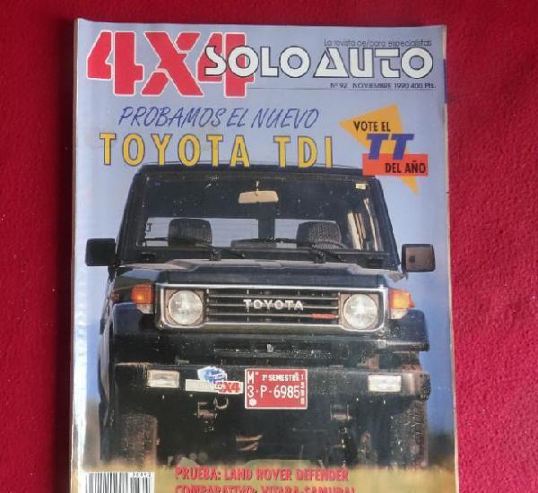 4x4 solo auto nº92 de 1990 toyota land cruiser tdi y land