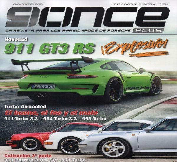9once plus n. 72 marzo 2018 - en portada: 911 gt3 rs (nueva)