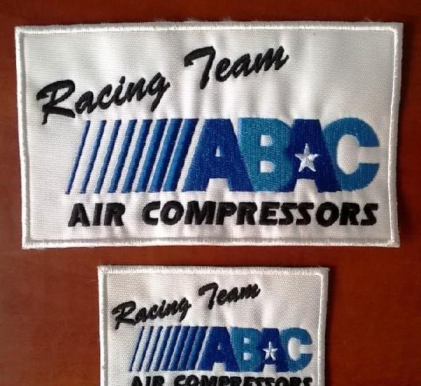 Abac racing - 2 bordadosd - nuevos - envio gratis
