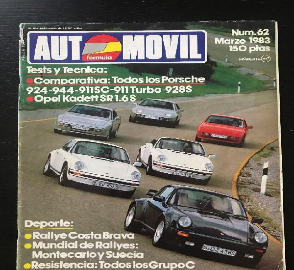 Automovil nº 62 - opel kadett sr 1.6 s porsche 924 944 911
