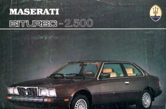Catálogo original maserati biturbo 2500 en español