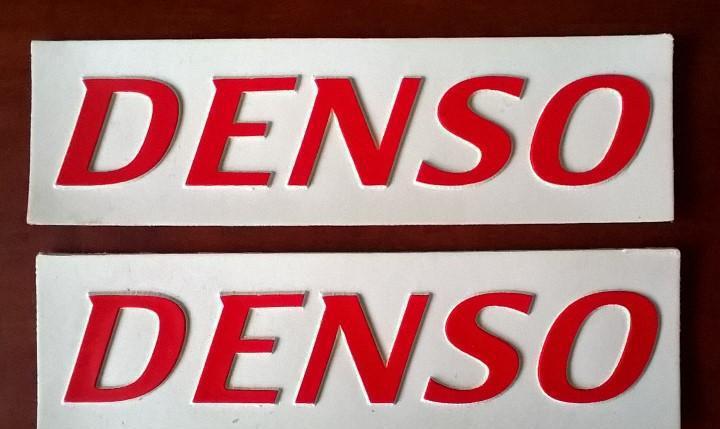 Denso - 2 logotipos en caucho - originales - envio gratis