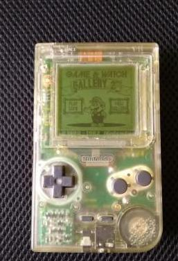 Game boy pocket transparente nintendo