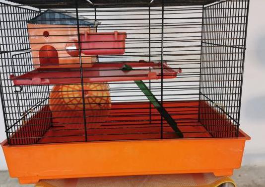 Jaula hamsters roedor casa rueda rampa