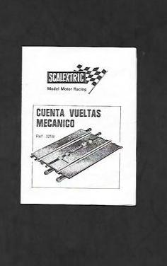 Manual de scalextric ref. 3259