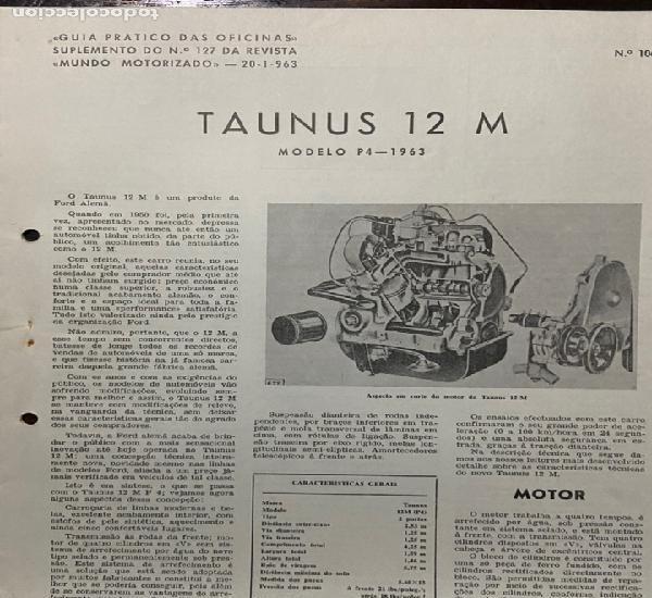 Manual de taller práctico taunus 12 m modelo p4- 1963