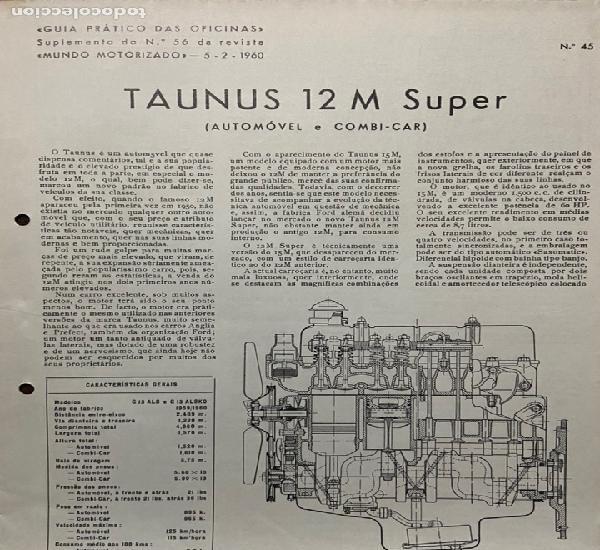 Manual de taller práctico taunus 12 m super- coche y coche