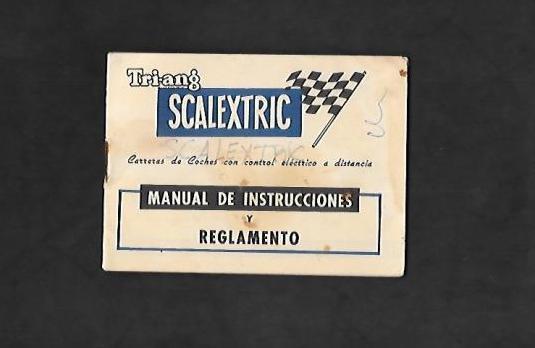 Manual triang de scalextric
