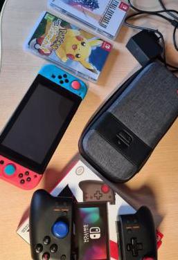 Nintendo switch más accesorios y juegos
