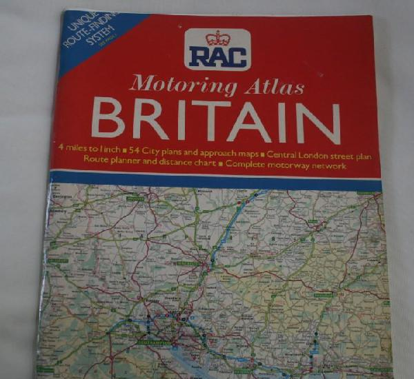 Rac real automovil club motoring atlas britain 1990 gran