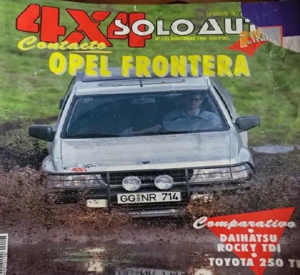 Revista solo auto 4x4 103 opel frontera toyota land cruiser