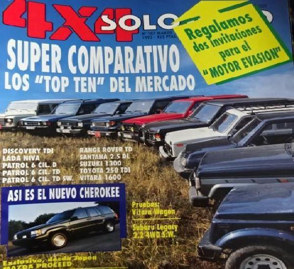 Revista solo auto 4x4 107 comparativo land rover lada niva