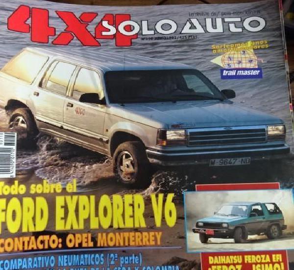 Revista solo auto 4x4 110 ford explorer v6 opel monterrey