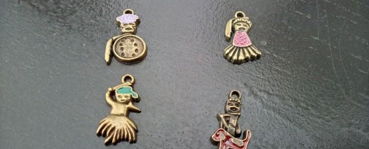 4 colgantes amuletos africanos (talismán)