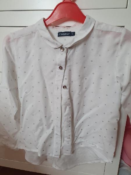 Camisa blanca niña 5 / 6 años