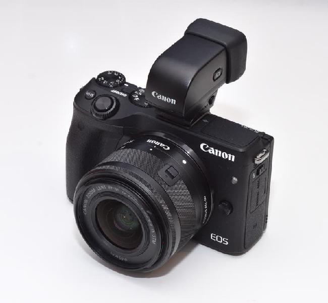 Canon eos m3 + evf dc1 + 15-45