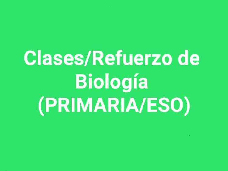 Clases/refuerzo online de biología (todos los curs