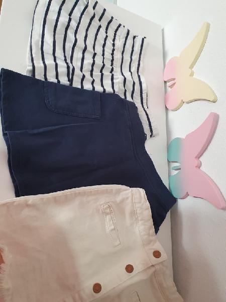 Lote 3 faldas verano niña 5 / 6 años