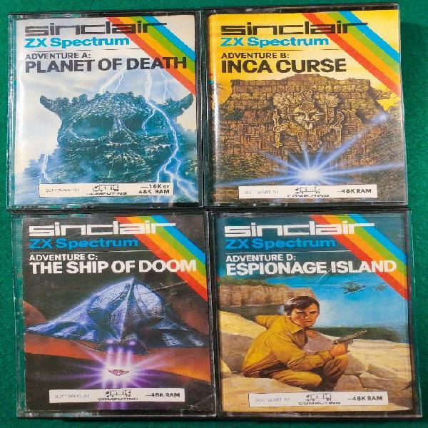 Lote coleccion 4 juegos adventure spectrum.