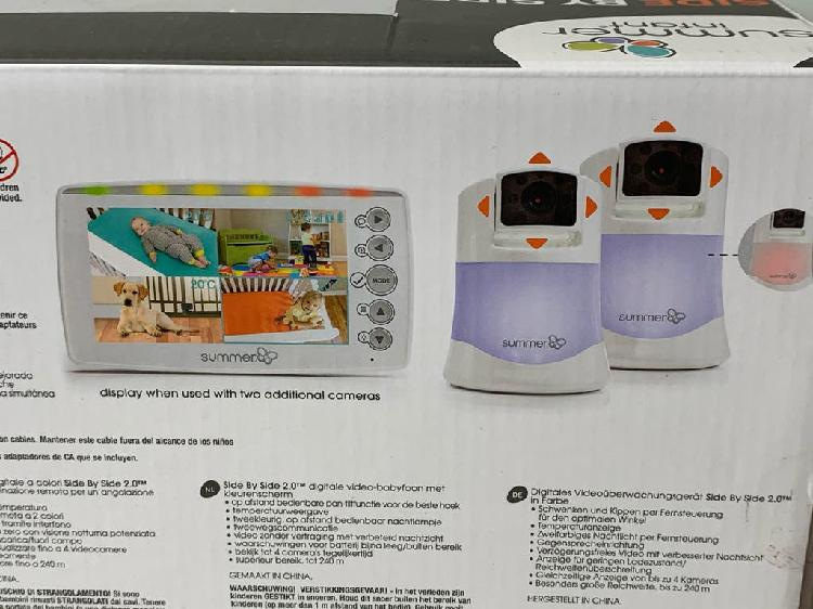 Monitor vigila bebes triple, camara summer infant