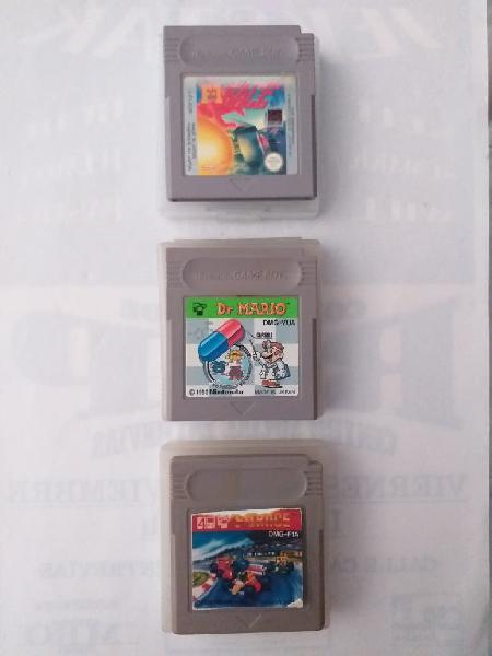 Pack 3 juegos de game boy