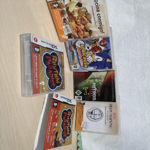 Pack de 5 juegos nintendo ds completos con manual