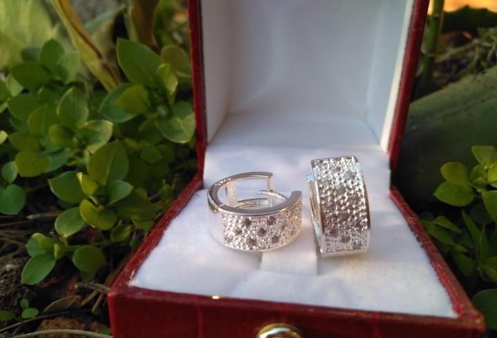 Pendientes de plata ley contrastada con cristales