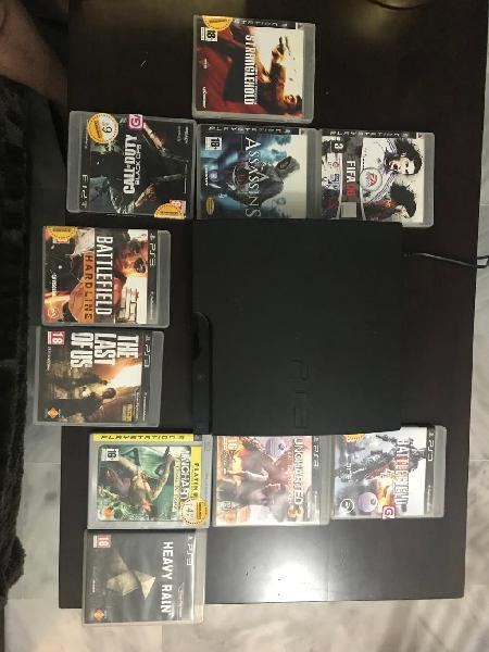 Playstation3 con 10 juegos