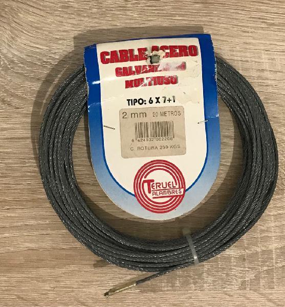 Rollo de cable de acero galvanizado 20m