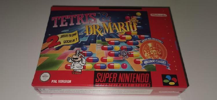 Tetris y dr mario snes nuevo pal españa precintado