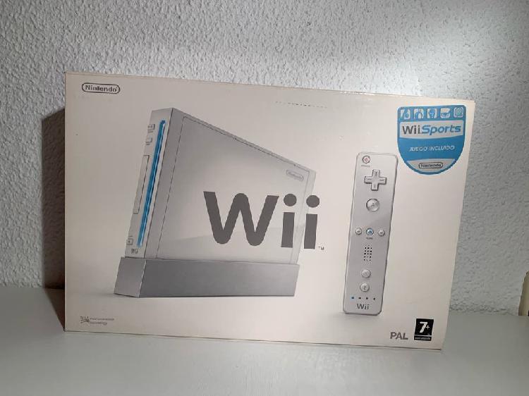 Wii + dos juegos + mando