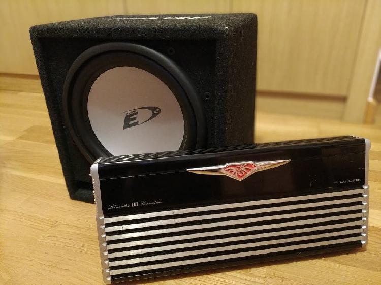 Subwoofer alpine 800w con amplificador
