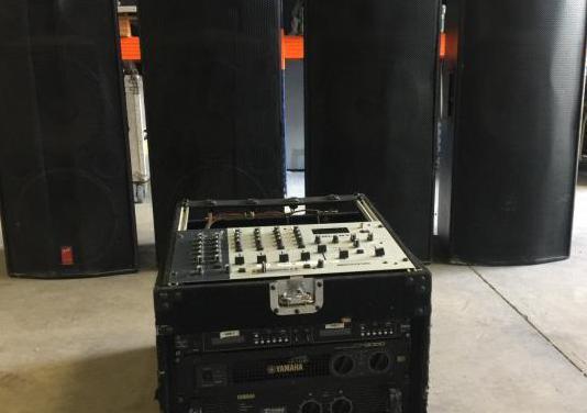 Equipo sonido yamaha fender completo 3000w. dj