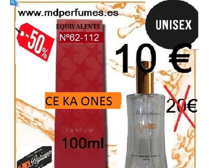 Perfume equivalente unisex ce ka ones alta gama nº 62.112