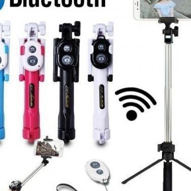 Trípode selfie stick integrado bluetooth