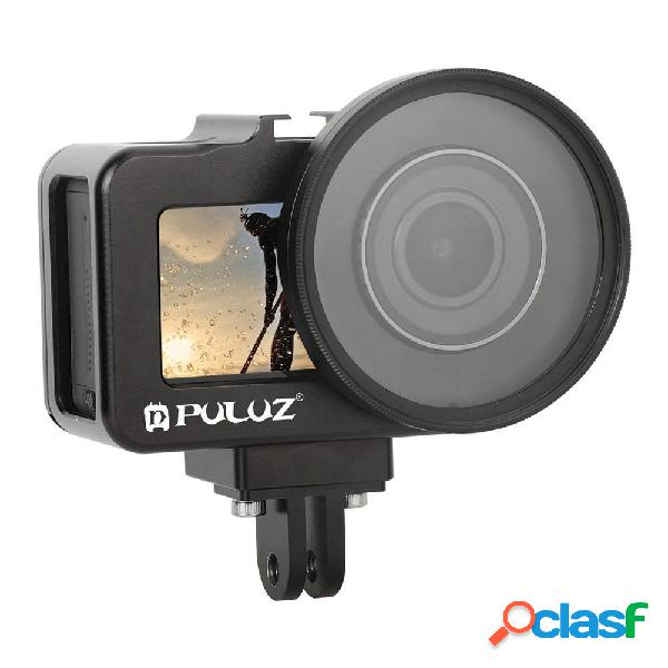 Puluz pu393b aluminum alloy protective shell case frame with uv lens filter for dji osmo action sports camera