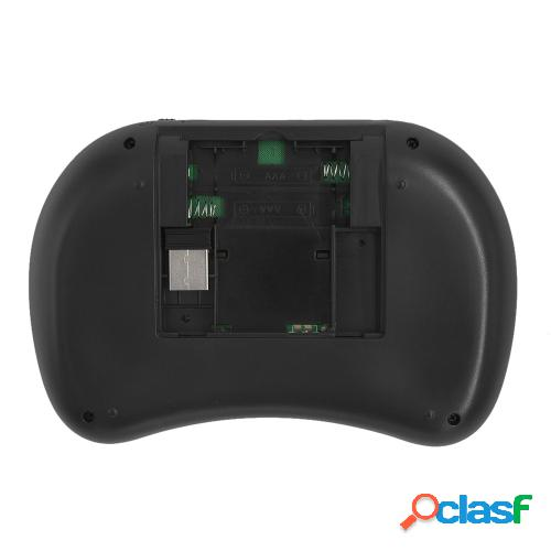 Teclado inalámbrico de 2.4ghz con touchpad mouse control remoto de mano para android tv box pc smart tv negro