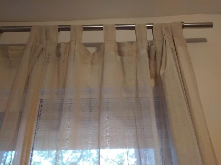 Barra de cortina para cortina color blanco SPEEDY 4 unidades