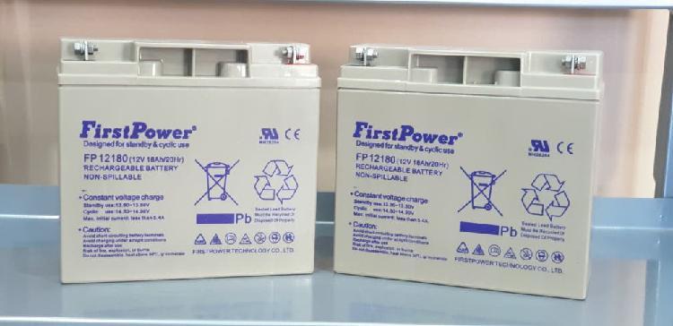 Baterias de 12 voltios y 18 amperios