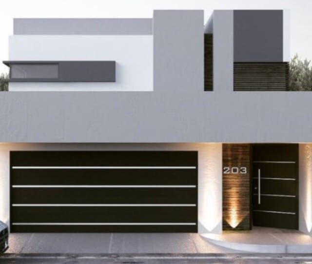 Fachada aluminio obra albañileria