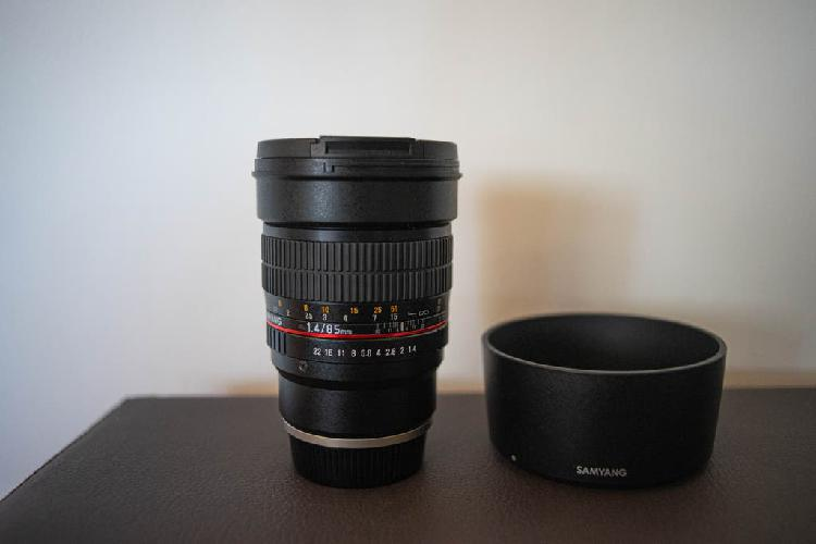 Objetivo samyang 85mm f1.4 para sony e