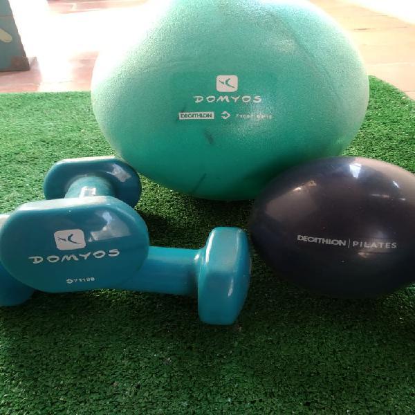 Pack pelotas de pilates y pesas