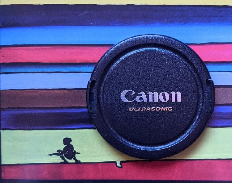 Tapa canon 67mm ultrasonic , tapa objetivo canon