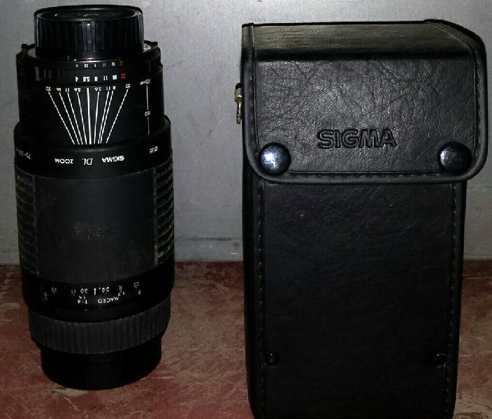 Teleobjetivo sigma cámara réflex af 75-300